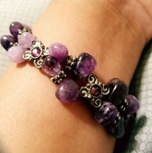 Amethyst Magnetic Closure Bracelet